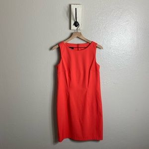 AGB • Orange Sheath Sleeveless Elegant Midi Dress